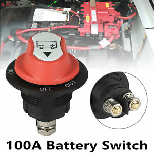 100a Battery Isolator Disconnect Cut Off Switch For Marine Car Truck Boat Rv Atv