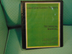 John Deere Jd Gx355d Tractor Mower Service Repair Manual Binder