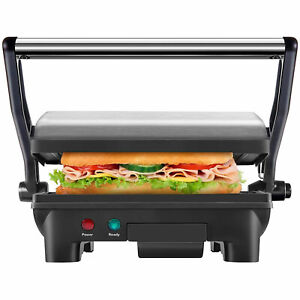 Chefman Panini Press Grill And Gourmet Sandwich Maker Stainless Steel used