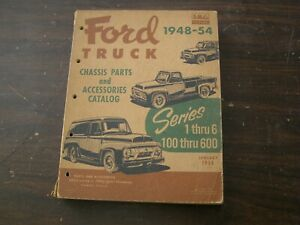 Original Ford 1948 1954 Truck Pickup Master Parts Book Chassis Catalog F100 F600