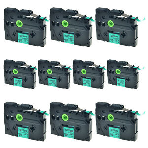 10x Tz721 Tze721 Black On Green Label Tape For Brother P touch Pt 2470 9mm 0 35