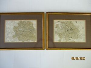 Lovely Pair Of Antique Maps Of London And Berlin With Super Framed Presentation
