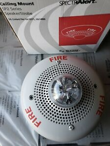 System Sensor Sp2c2415 White Ceiling Fire Alarm Speaker Strobe 15 Candela new