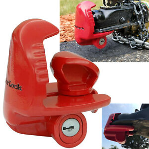 Trailer Lock Universal Coupler Tongue Anti Theft Hitch Rv Security Travel Boat