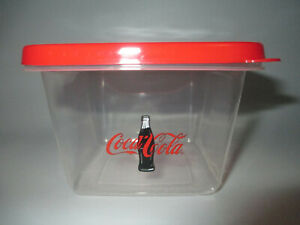Coca-Cola 6 Pack Square Reusable Plastic Food Storage Container with Lid