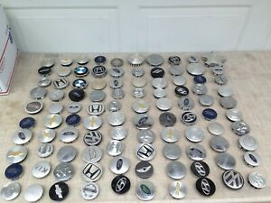 Lot Of 100 Small Wheel Center Caps Jeep Honda Vw Ford Chevy Oem