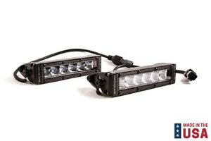 Pair Diode Dynamics White Led Stage Series 6 Fog wide Light Bars Sae dot