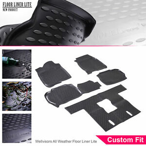 Wellvisors All Weather Floor Mats Liner 3 Row Set For Cadillac Escalade 07 14