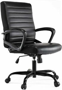 Modern Style Leather Executive Office Chair Ergonomic Comfort For Daily Use