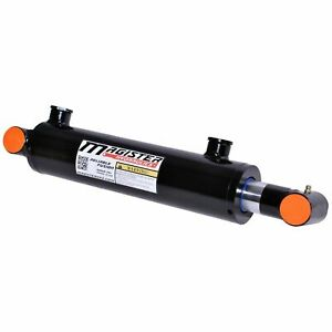 Hydraulic Cylinder Welded Double Acting 3 Bore 20 Stroke Cross Tube New