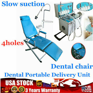 Dental Delivery Unit Rolling Case Air Compressor 4 Holes Weak Suction Chair Us