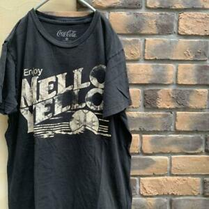 90S Coca Cola Old Clothes T Shirt Mellow Yellow America Size M