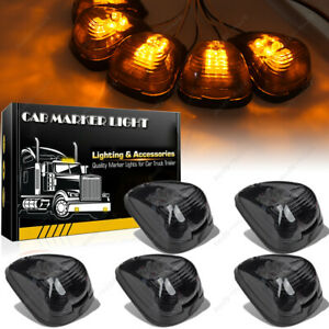 5x Smoke Cab Marker Light W Amber Led Assembly Wiring For 99 16 Ford 250 550