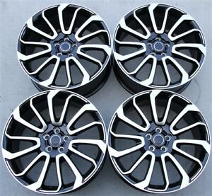Set 4 22 22x10 5x120 New Black Wheels Fit Range Rover Autobiography Sport Hse