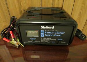 Diehard Battery Charger Engine Starter 12 Volt Fully Automatic 2 10 50 Amp