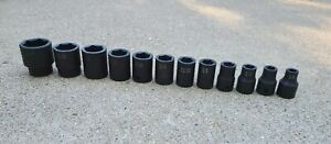 12pc S k S K Tools 1 2 Dr Impact Socket Set 1 1 4 1 1 16 1 7 8 Etc
