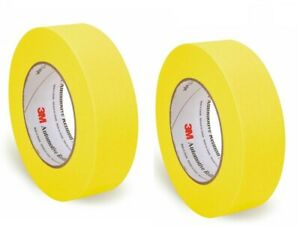 3m Automotive Refinish 1 1 2 Yellow Masking Tape 06654 2 Roll