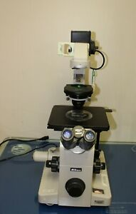 Nikon Diaphot Inverted Microscope Phase Contrast Fluorescence 2 4 10 20 40x