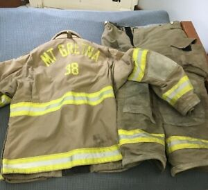 Mt Gretna Pa Janesville 2000 Firefighter Jacket And Pants Used size 4632r