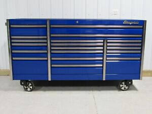 Snap On Royal Blue 84 Epiq All Drawer Tool Box Stainless Steel Top