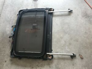 92 95 Oem Honda Civic Coupe 2 Door Sunroof Assembly Glass Track Genuine Moonroof