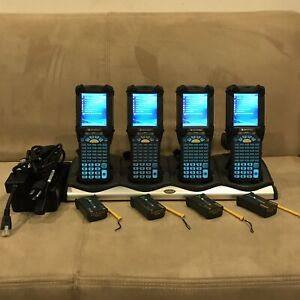 Lot Of 4 Symbol Motorola Mc9090 gf0hcefa6wr Windows Barcode Scanner W Extras