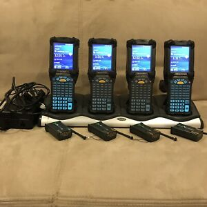 Lot Of 4 Symbol Motorola Mc9190 g90sweqa6wr Window 6 5 Barcode Scanner Excellent
