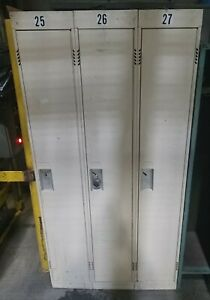3 Tall metal Lockers Cabinet for storage Gym Office 36 w X 72 h X 12 d