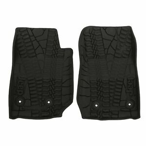 2014 2018 Jeep Wrangler 2 Door Front Slush Mats All Weather Mopar 82213861 Oem