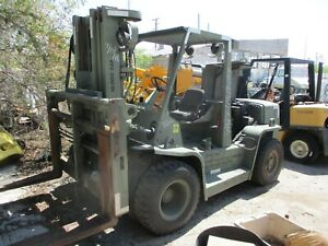 Hyster H155xl Pneumatic Forklift Diesel Lift Truck military as Is