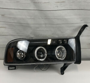 1994 2001 Dodge Ram 1500 2500 3500 Led Halo Projector Headlight Black Right Side