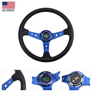 13 5 Deep Dish 9 5cm Universal Drifting Racing Steering Wheel Aluminum