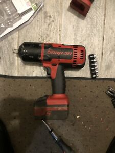 Snap On Ct8850 1 2 Drive 18v Cordless Impact Wrench W 2batteries Case Charger