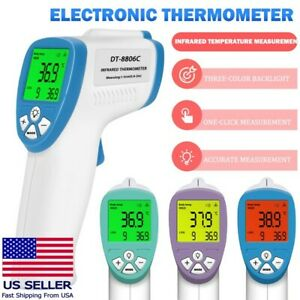 Non contact Thermometer Digital Lcd Infrared Forehead Baby Adult Temperature Gun