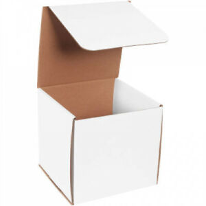Corrugated Mailers Boxes 8 X 8 X 8 White 50 Pack Shipping Packing Box