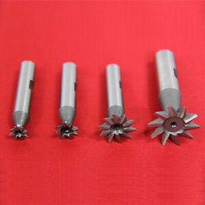 All Industrial 19522 4 Pc 60 Degree Hss Dovetail Cutter Set 3 8 1 2 3 4 1