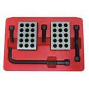 All Industrial 55550 8 Pc 1 2 3 Blocks Screws Clamping Set With Case