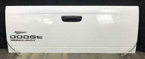 02 08 Dodge Ram Pick Up Truck Tailgate Assembly Oem White Complete W Latch