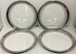 4 Used 1988 1999 Gmc Chevy Pickup Truck Chrome Trim Rings 16