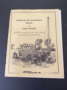 Vintage Highway Trailer Ind Inc Water Oil Well Boring Drill Rig Manual Hd Hdms