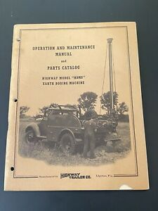 Vintage Highway Trailer Ind Inc Water Oil Well Boring Drill Rig Manual Hdms