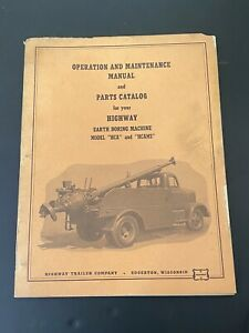 Vintage Highway Trailer Ind Inc Water Oil Well Boring Drill Rig Manual Hca Hcams
