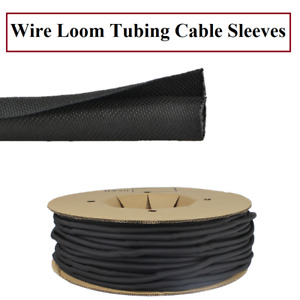 Wire Loom Tubing Cable Sleeve Side Entry Cables Wrap Braided Sleeves Flexible