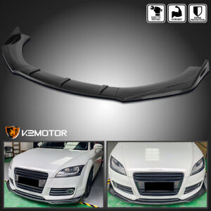 Universal 3pc Style Glossy Blk Bumper Lip Spoiler Splitter Body Kit Ford Bmw Vw