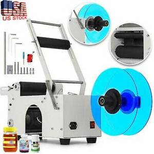 120w Mt 50 Semi automatic Round Bottle Labeling Machine Labeler Electric