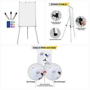 Magnetic Dry Erase Board With Stand 36 X 24 Inch Easel White Boards For Kids Cla