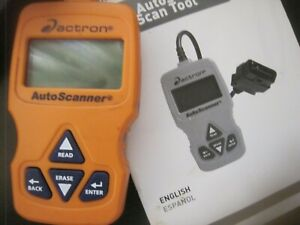 Actron Autoscanner Obdii Scan Tool Cp9575 Used Working W Manual Guide