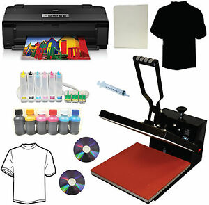 New 15x15 Heat Transfer Press large Wide Format Wireless 6color Printer Tshirts