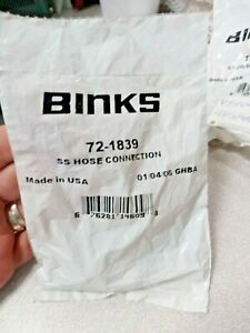 Binks 72 1839 1 4 Ss Hose Connection lot Of 2