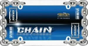 Double Panel Chain Link License Plate Frame Ca20530